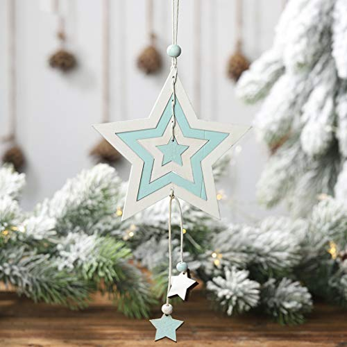41GCsbBKMGL. SS500  - Y56 Christmas Wooden Four-Layer Hollow Pendant Creative Cute Hanging Pendant