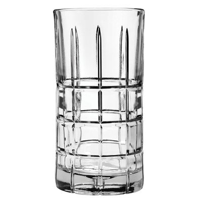 Anchor Hocking Operating 68347 Iced Tea Glass, Manchester Tartan Crystal, 16-Oz, (Pack of 12)