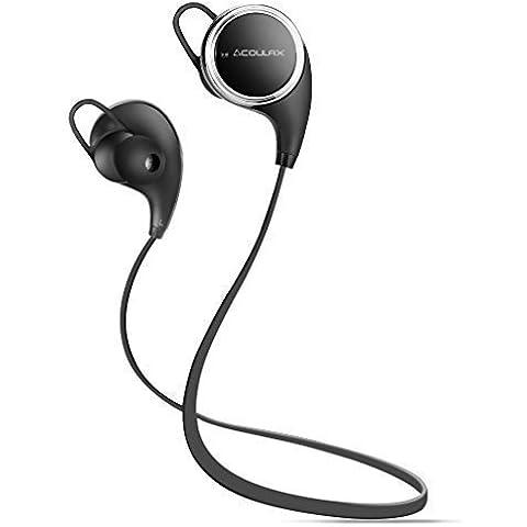 COULAX QY8 Auriculares Inalámbricos Cascos Deportivos Bluetooth 4.1 de Manos Libre Estéreo Resistentes al Sudor con Mic/APT-X para iPhone 6s, Samsung Galaxy S6 y S5 y teléfonos Android, Color