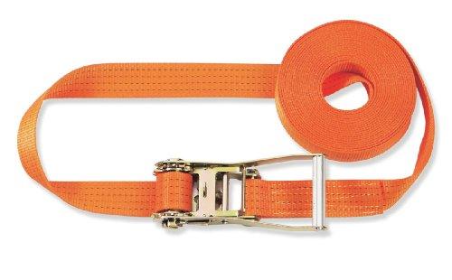 Braun Spanngurt 4000 daN, einteilig, Farbe orange, 6 m Länge, 50 mm Bandbreite, mit Ratsche