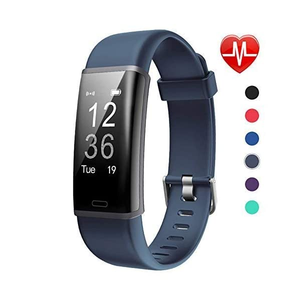 Lintelek Fitness Tracker, Pulsera de Actividad Personalizada Color con Monitor de Ritmo Cardíaco, 14 Modos de Deporte… 1