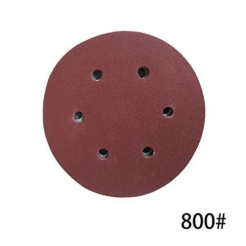 100 STÜCKE 125mm Haken Schleife Schleifpapier mit 8 Loch Sand Pads Set 60-1000 Körnung Sander Disc Schleifmittel Werkzeuge für polnische Maschine (Disc Sander 12 Pad)