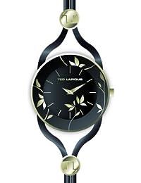 Ted Lapidus - A0525PNIN - Montre Femme - Quartz Analogique - Cadran Noir - Bracelet Cuir Noir