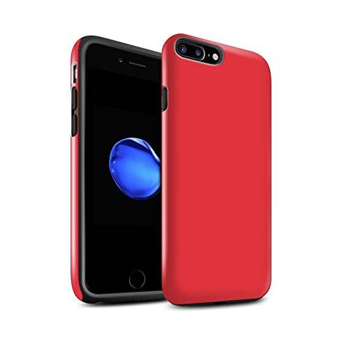 Coque Brillant Robuste Antichoc de STUFF4 / Coque pour Apple iPhone 5C / Noir Design / Couleurs Collection Rouge