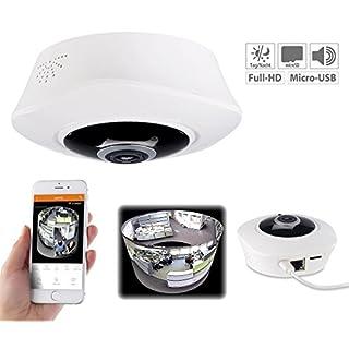 7links 360 Kamera: 360°-Panorama-IP-Überwachungskamera mit WLAN & Nachtsicht (Deckenkamera)