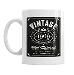 Idea Regalo - Tazza da caffè con immagine di bottiglia di vino e anno 1966, ideale come regalo per il cinquantesimo compleanno, per uomini e donne