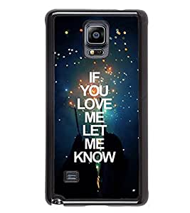 FUSON Love Me Know Me Designer Back Case Cover for Samsung Galaxy Note 4 :: Samsung Galaxy Note 4 N910G :: Samsung Galaxy Note 4 N910F N910K/N910L/N910S N910C N910Fd N910Fq N910H N910G N910U N910W8