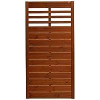 Andrewex wooden fence, fencing panel, garden fence 180 x 90, varnished, teak