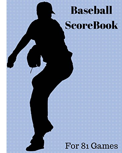 Baseball ScoreBook: 81 games, 8in x 10in, Included most popular stats, Special have matchup Jiugingge: Volume 1 por Mike Murphy