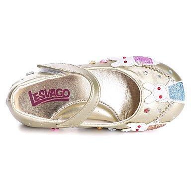 LIDOG Mariage Habillé Décontracté Soirée & Evénement-Or Argent-Talon Plat-Confort Flower Girl Chaussures Light Up Chaussures-Ballerines- sliver