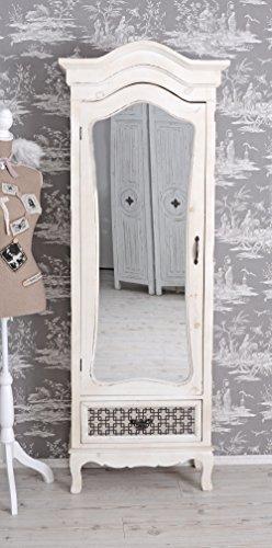 PALAZZO INT Kleiderschrank Shabby Chic Wäscheschrank Weiss Spiegelschrank Antik Palazzo Exclusiv