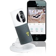 KYG Cámara Vigilancia Seguridad Inalámbrica, Alarma de Movimiento 720P con Visión Nocturna Infrarroja, Detección de Movimiento-sonido, Micrófono y Altavoz,compatible con iOS, Android