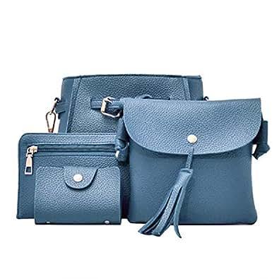 CHIGANT 4pcs donne borsa composita borsa a tracolla portafoglio borse a tracolla Borse a tracolla