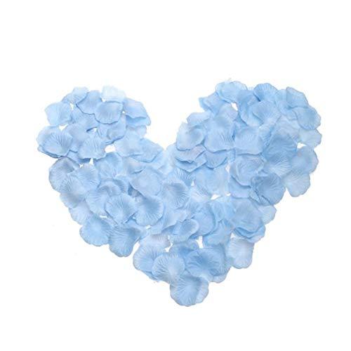 (Simulation von Rosenblättern 100pcs Multi-Use Sehr Blaue Silk Gewebe-Blütenblätter, Weddin g Room at Conforama Berührt)