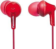 Panasonic RP-HJE125 in-oordopjes (drie paar passtukken, 10-24.000 Hz, 1,1 m kabel) Single 1 rood