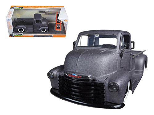"1952 Chevrolet Coe Pickup Truck Matt Grey ""Just Trucks"" with Extra Wheels 1/24 by Jada 97221"