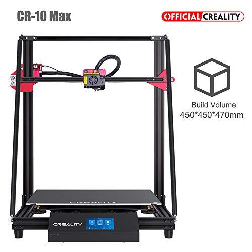 Creality CR-10 Max oficial, la impresora 3D más nueva con tubo de teflón Capricornio BL Touch y gran tamaño de impresión 450 * 450 * 470 mm