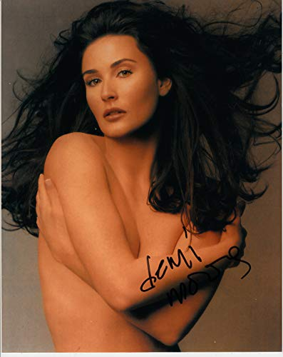 Signing Dreams Autographs Autogramme von Demi Moore, signiert, 10 x 20 cm, Farbe – Ghost – Charlies Angels – 100% In Person Dealer – UACC Registered ()