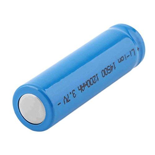gaddrt 1Pc 14500 Batterie 1200mAh Li-Ion 3.7V Akkus für LED-Taschenlampe gaddrt