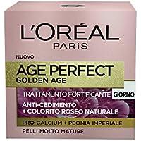 L'Oréal Paris Age Perfect Golden Age Crema Viso Antirughe Fortificante Giorno, Pelli Mature, 50 ml