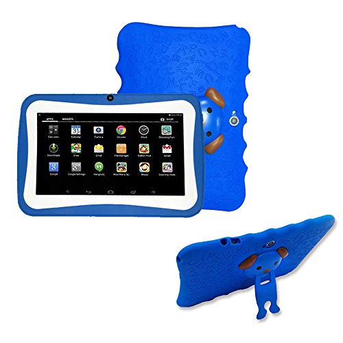 SO-buts Android 4.4 KitKat Tablet,7-Zoll Quad-Core Tablet,Maximaler erweiterter Speicher 32 GB,HD-Display Dual-Kamera WiFi Bluetooth Geeignet für Kinder, (Blau1)