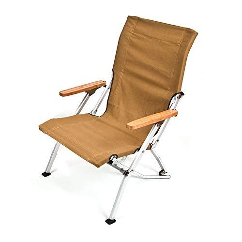 GKPLY Chaise Pliante Portable de Loisirs en Plein air - Chaise de Plage décontractée, Chaise de pêche en Toile Pliante avec Sac de Rangement
