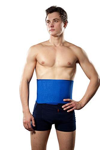 Hochwertige Rückenbandage aus Neopren, Rückenstütze, Nierengurt, Lumbalbandage (uni (S-XL), Schwarz)