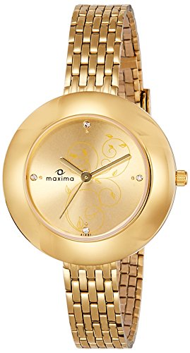 Maxima Analog Gold Dial Women's Watch - 41481CMLY