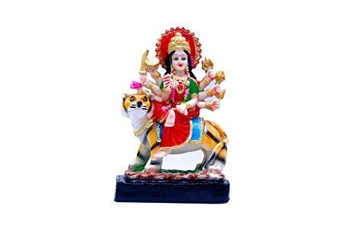 Max India Polyresin Goddess Kali Durga Dev Spiritual Statue (Multicolour)