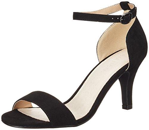 BIANCO - Low Basic Sandal Mam16, Scarpe col tacco Donna nero (nero)