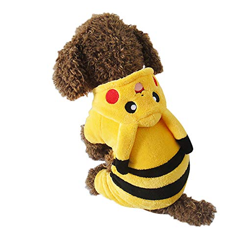 joizo Abbigliamento 1pc Pokemon Mascot Modifica Appare Mascotte Inverno Costume Pikachu Cappotto Scimmia Divertente Cosplay per Small Medium Cani (s)