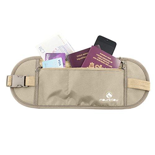 Marsupio Portasoldi da Viaggio - Cintura Nascosta Sotto i Vestiti per Carte di Credito e Debito Per Passaporti e Documenti in Materiale Traspirante di Qualità con Protezione RFID
