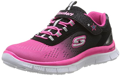 skechers-appeal-sneakers-basses-fille-noir-noir-rose-34-eu-15-uk