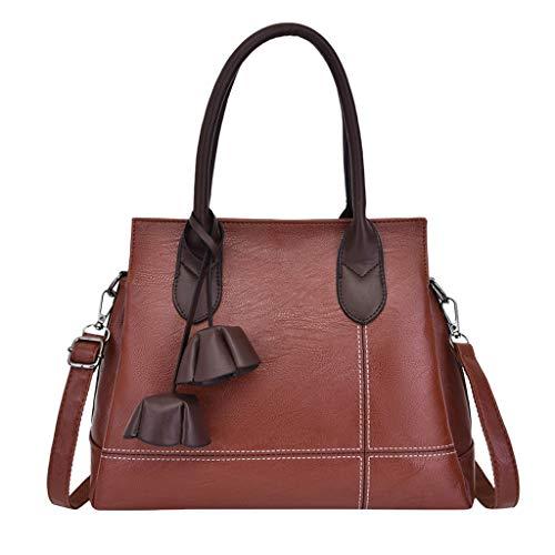 Marc Jacobs Tasche Braun (jfhrfged Damenmode einfarbig Handtasche große Handtasche Umhängetasche Handtasche mit großer Kapazität Reißverschluss Messenger Bag (Braun))
