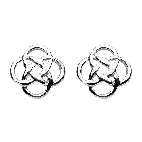 Heritage Women's Sterling Silver Celtic Stud Earrings q04HqldyTy