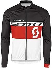 Scott RC Team2016 - Camiseta de ciclismo larga, color negro y gris , verano, hombre, color  - weiß rot, tamaño XXL (58)