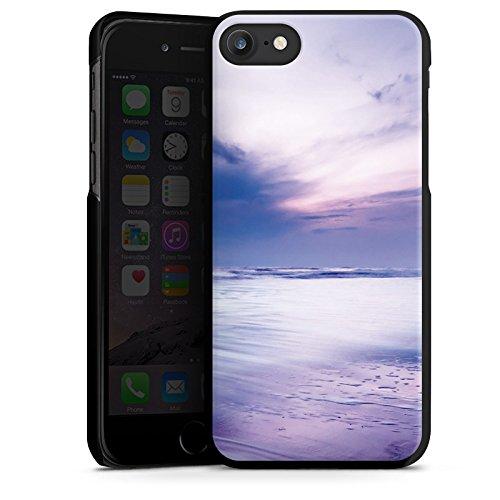 Apple iPhone X Silikon Hülle Case Schutzhülle Lila Wolken Ozean Hard Case schwarz