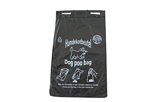 3000 Hundekotbeutel Hundetüten Gassibeutel Farbe schwarz bedruckt weiß Hundekottüten abreissbar 20 x 32 cm