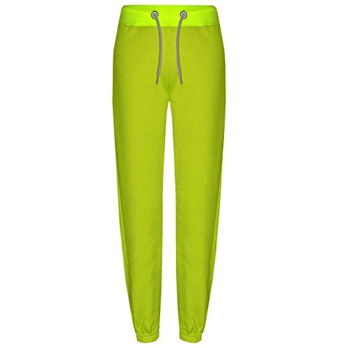 A2Z 4 Kids® Kinder Jungen Mädchen Jogginghose s Jogging Hosen Trainingsanzug Hosen - Fleece Trouser Neon Green 3-4 (Green Hose Check)