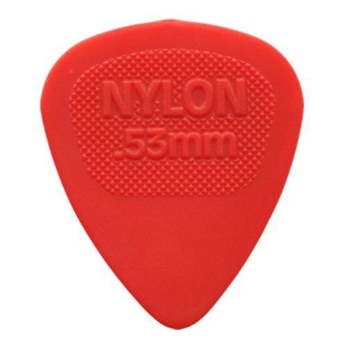 12 x Púas para guitarra presentadas Midi de nailon Dunlop/púas - 0,53 mm rojo en estuche de metal