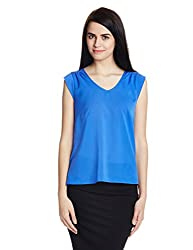 French Connection Womens Top (76FCS_Blue_Large)