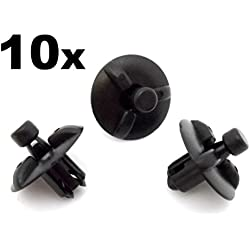 10x Engine Cover Clips- Plastic Trim Fasteners for Motor Shields & Panels - air filter box, air filter housing (532590E010, 53259-0E010, 5325948010, 53259-48010)