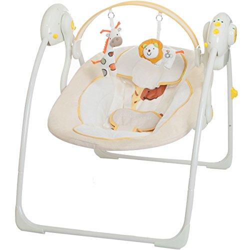 Babyschaukel DREAMDAY (vollautomatisch 230V) mit 8 Melodien und 5 Schaukelgeschwindigkeiten (BEIGE)