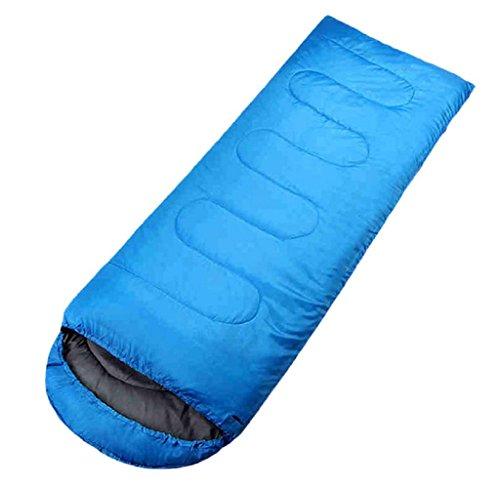 Saco de dormir, Lanowo portátil cómodo ligero durable de fibra de poliéster Compresión Bolsa acampando, que sube, las vacaciones de verano (blue)
