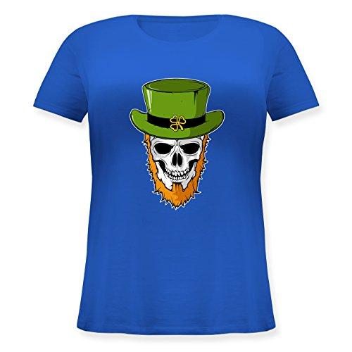 St. Patricks Day - St. Patricks Day - Totenkopf - L (48) - Blau - JHK601 - Lockeres Damen-Shirt in großen Größen mit Rundhalsausschnitt (Dead Dj Kostüm)