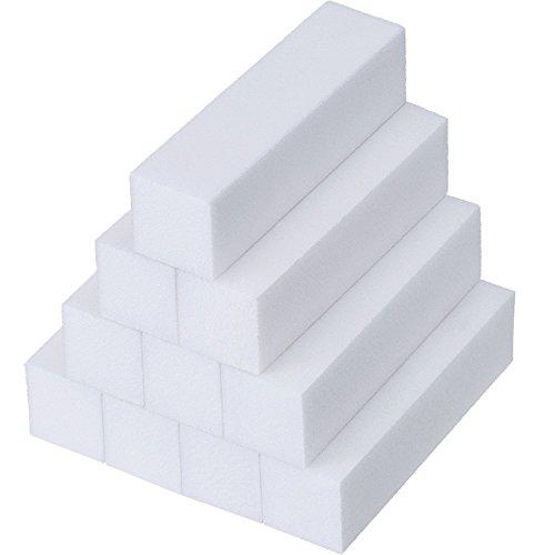 Anself 10pcs bianco buffer blocco acrilico nail art cura suggerimenti levigatura file strumento