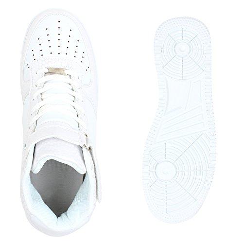 Damen Herren Cultz Basketballschuhe Sportschuhe Sneakers Weiss Bexhill