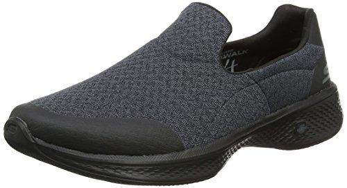 Skechers Go Walk 4, Zapatillas sin Cordones para Mujer, Negro (Black), 41 EU