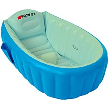 Intime Inflatable Baby Bath Tub, Baby Children Shower Tub (For 0 3 Years