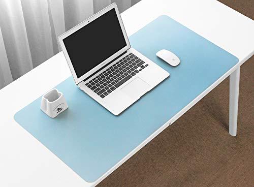 Boona Schreibtischunterlage, klein, 59,9 x 29,5 cm, PU-Leder, Schreibtischunterlage, Schreibunterlage, Mauspad, Organizer, doppelseitiges Laptop-Kissen, Tragbare Schreibfläche
